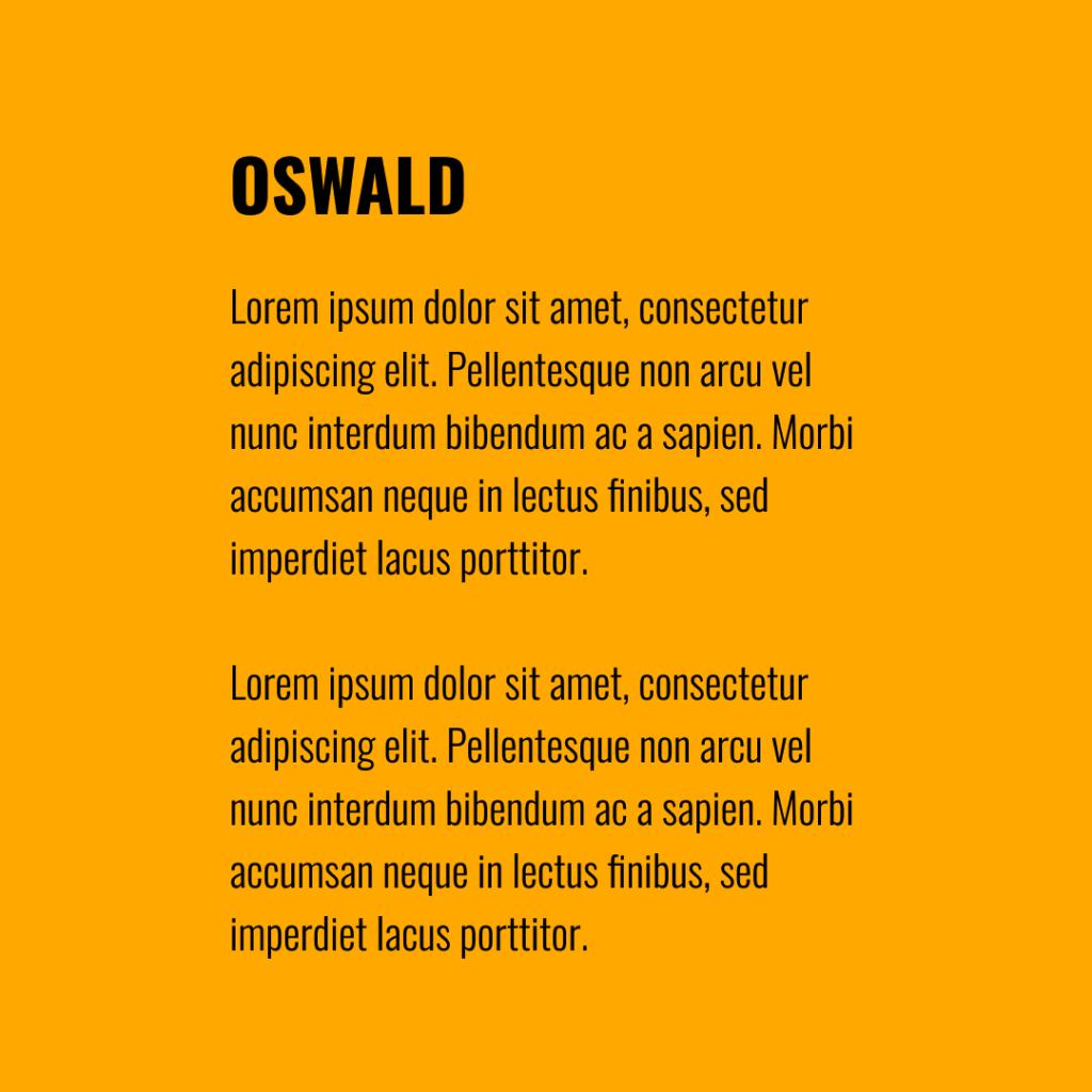 Figure 10 Font - Oswald
