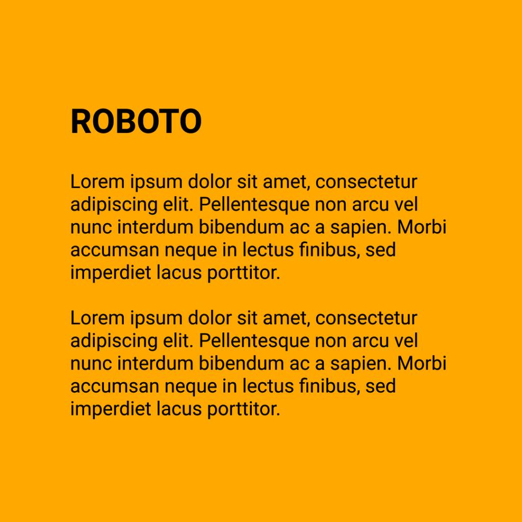 Figure 13 Font - Roboto