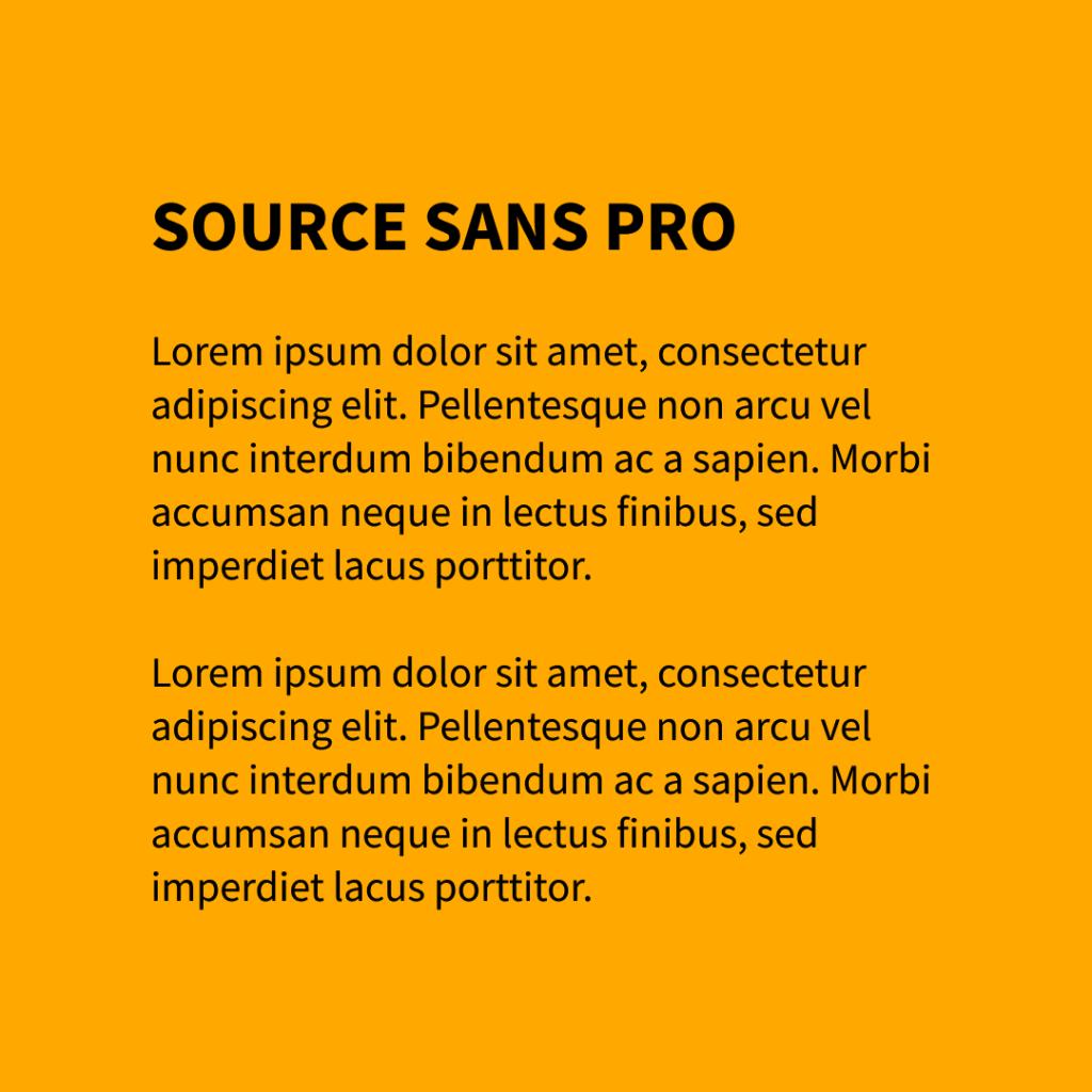 Figure 15 Font - Source Sans Pro