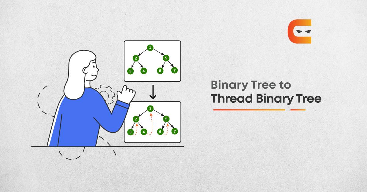 Conversion from a Binary Tree to a Threaded Binary Tree